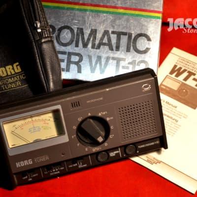 Korg WT-12 vintage tuner with box & manual
