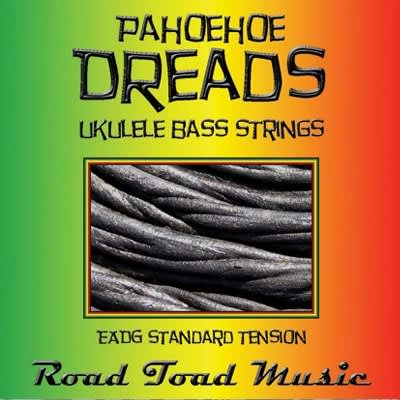 Road Toad Music - Pahoehoe Dreads - 4 string Ukulele Bass Set - closeout!