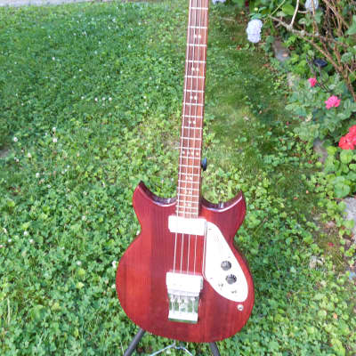 Micro-Frets signature bass  red for sale
