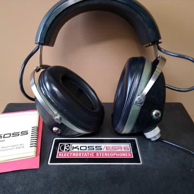 Koss EPS 6 1967  Electrostatic Stereo Headphones tested,