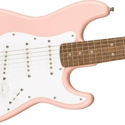 Fender Squier Mini Stratocaster®, Laurel Fingerboard, Shell Pink