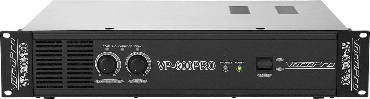 vocopro vp 600 pro 2 space 600w professional power amplifier reverb. Black Bedroom Furniture Sets. Home Design Ideas