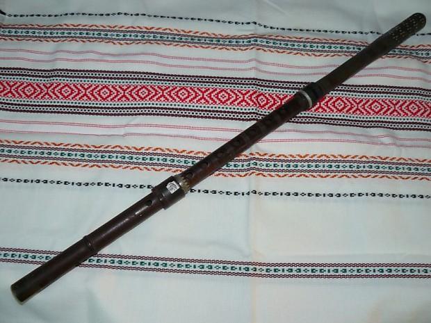 Vintage Bulgarian Handmade Kaval Wooden Flute Pipe