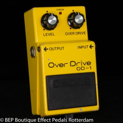 Boss OD-1 Overdrive 1981 Japan s/n 102208 Long Dash with rare NEC uPC4558C op amp