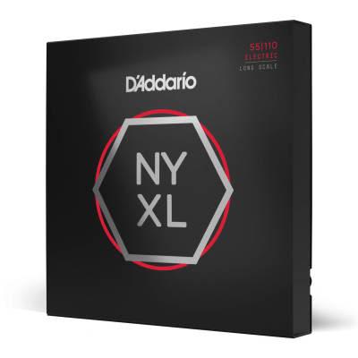 D'Addario NYXL55110 Nickel Wound Long Scale Heavy Bass Guitar Strings, 55-110 Nickel
