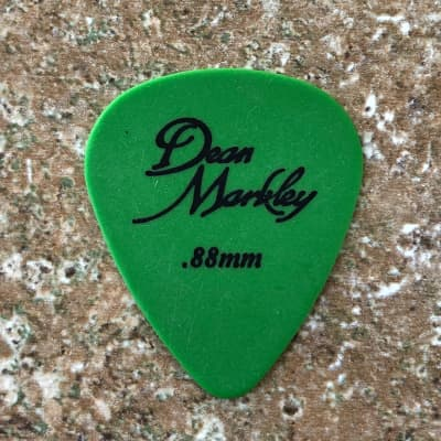 Dunlop Tortex (Dean Markley Logo) .88mm 12-pack .88mm Green for sale