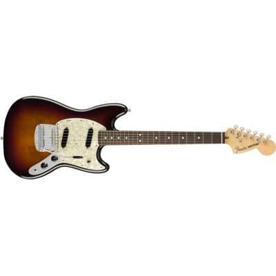 Fender American Performer Mustang Electric Guitar, Rosewood, 3-Color Sunburst
