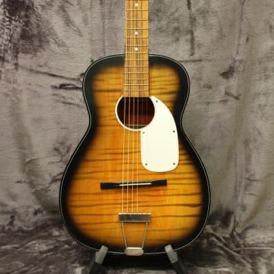 1960's Orpheus No. 4 Parlor Guitar Faux Flame for sale