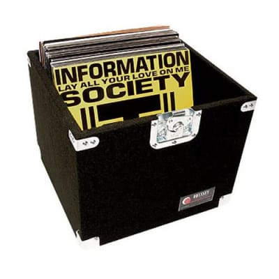 Odyssey CLP100P Pro Carpeted LP Case with Recessed Handle, Holds Up To 100 LP Records