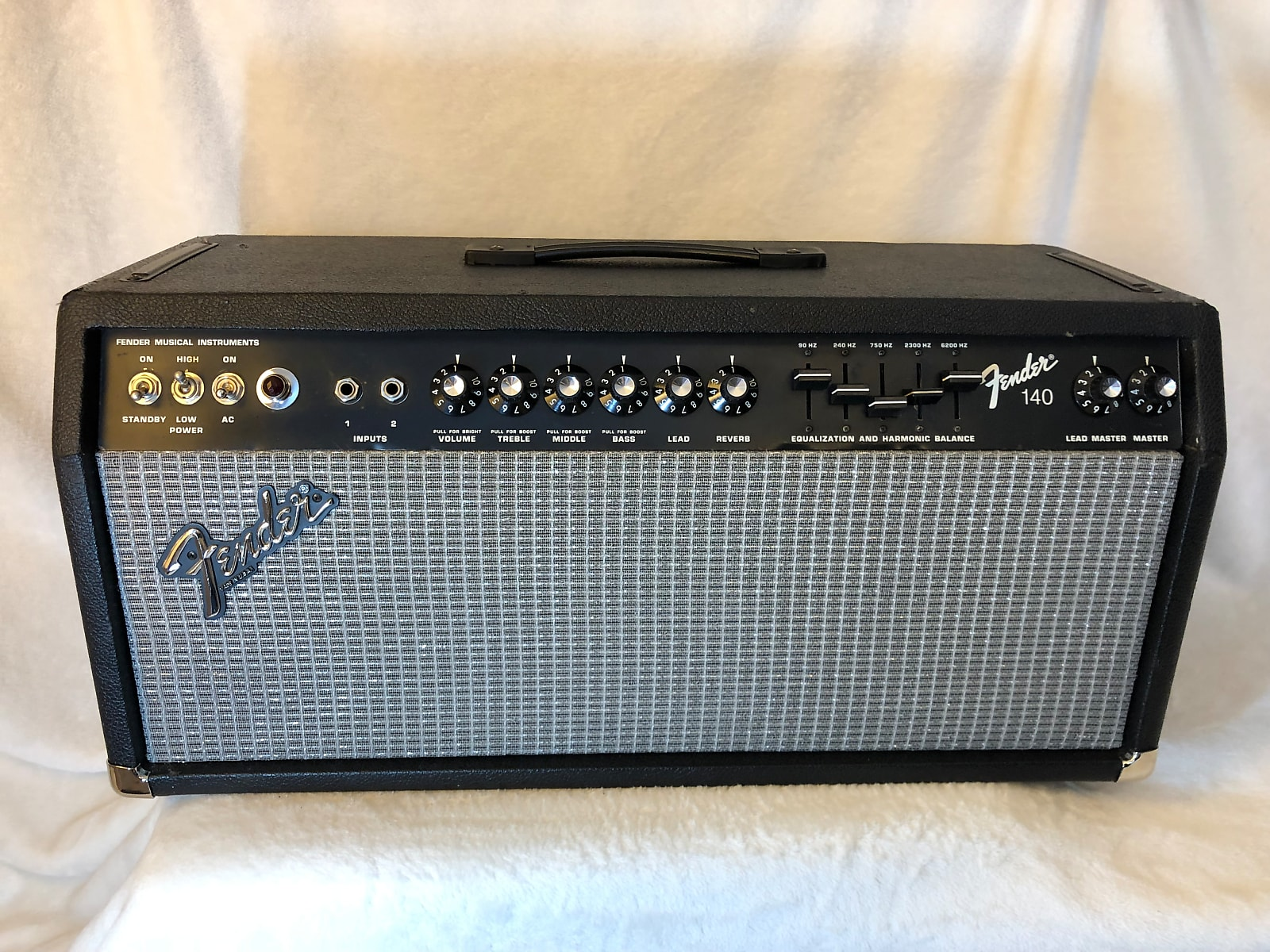 fender 140 2 channel 140 watt guitar amp head 1980 reverb. Black Bedroom Furniture Sets. Home Design Ideas