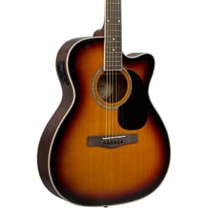 Mitchell O120CESB Orchestra Cutaway with Electronics 3 Color Sunburst