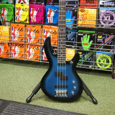 Aria IGB Standard bass guitar in metallic blue shade for sale