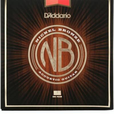 D'Addario NB1356 Nickel Bronze Acoustic Strings: 13-56 (Medium)
