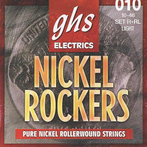 GHS R+RL Nickel Rockers Electric Guitar Strings - Light (10-46)