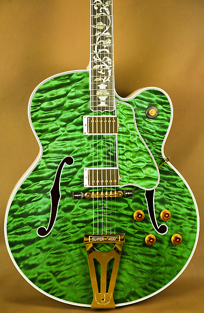 Gibson Super 400 Ultra Tree Of Life Custom Quilted Maple