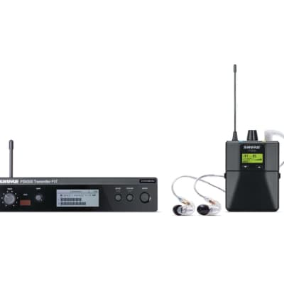 Shure P3TRA215CL PSM 300 Series Wireless In-Ear Monitor System with SE215-CL Earphones - 518-542 MHZ image
