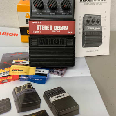 Arion  SAD-3 Stereo Delay Effect Pedal with Box & Papers for sale