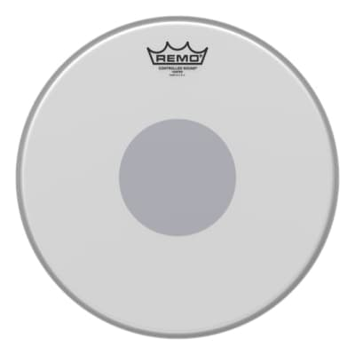 """Remo Controlled Sound Coated Black Dot Drumhead (13"""")"""