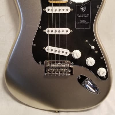 Fender 75th Anniversary Stratocaster Electric Guitar,  Diamond Anniversary W/ Deluxe Gig Bag for sale