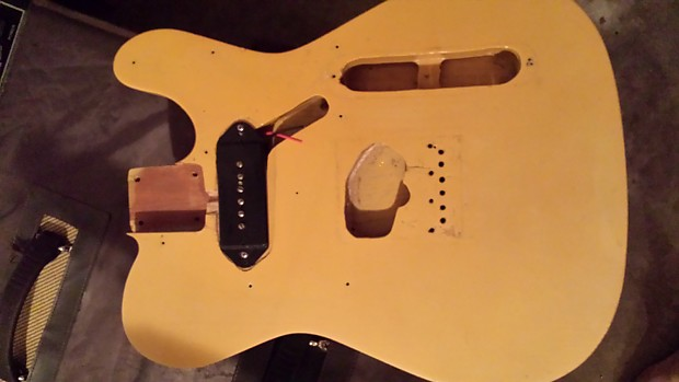 Unknown Telecaster Body W  P90 Blonde