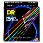 DR Strings NMCA-12 Hi-Def NEON Multi-Color Coated Acoustic Guitar Strings image