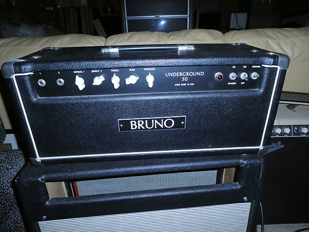 bruno underground 30 early 1990s black tolex hollywood amps reverb. Black Bedroom Furniture Sets. Home Design Ideas