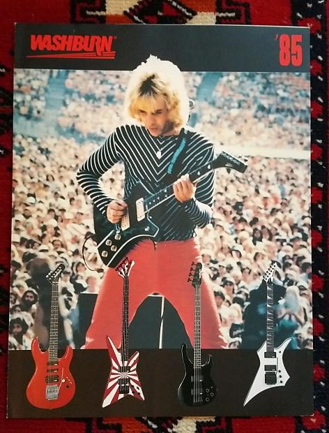 washburn guitar and bass catalog 1985 vintaxe reverb. Black Bedroom Furniture Sets. Home Design Ideas