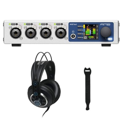 RME AVB Tool Mic Preamp, Router, and Converter with AKG K240 MKII Pro Headphones & 10-Pack Straps Bundle