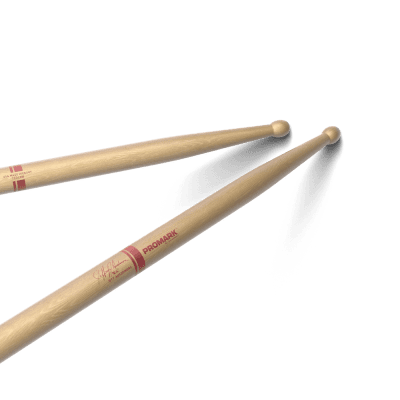 Pro-Mark TXDC8W Jeff Ausdemore Signature Hickory DC8 Wood Tip Marching Drum Sticks (Pair)