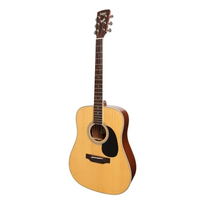 Saga '700 Series' Solid Spruce Top Acoustic-Electric Dreadnought Guitar (Natural Satin) for sale
