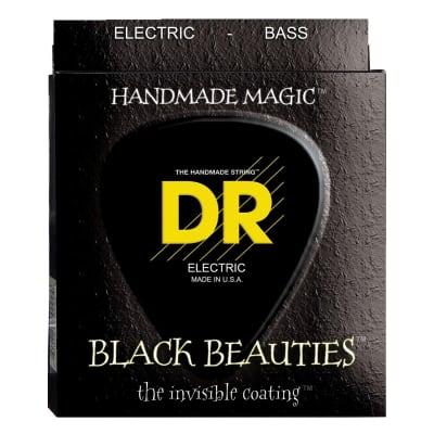 DR Strings BKB545 Black Beauties 5-String Electric Bass Strings (Medium, 45-125)