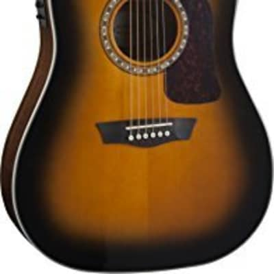 Washburn HD10SCE Heritage Dreadnought Acoustic-Electric Guitar, Tobacco Sunburst