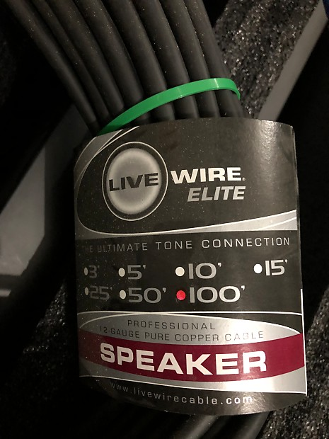 Live Wire Livewire Elite 12g Speaker Cable Speakon to Speakon | Reverb