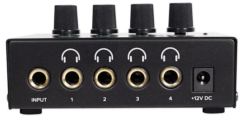 mackie hm 4 4 way distribution headphone amplifier amp w 4 reverb. Black Bedroom Furniture Sets. Home Design Ideas