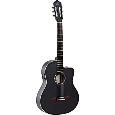 Ortega Family Series RCE125SN-SBK Electro-Acoustic Classical Guitar with Gig Bag for sale