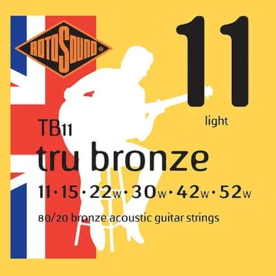 RotoSound Guitar Strings - Acoustic - True Bronze - 11 Light 11-52