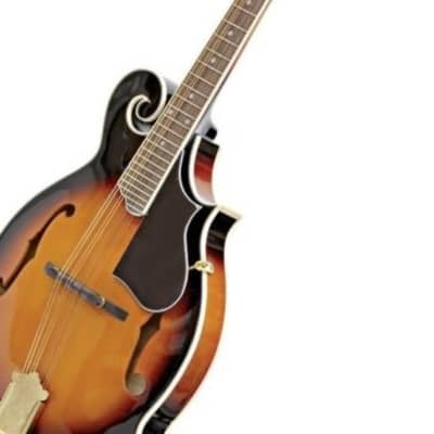 Crestwood F Style Mandolin Tobacco Sunburst 24 Fret Spruce Top Free Shipping for sale