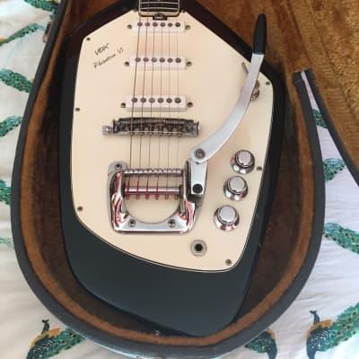 1967-68 Vox Phantom VI Black, Great Condition w/ Coffin Case for sale