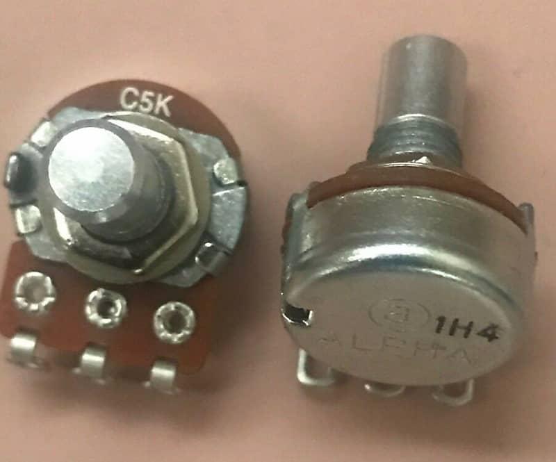 Alpha 5k Reverse Audio Pot Potentiometer for CCV Cameron mods 1-5/% tolerance