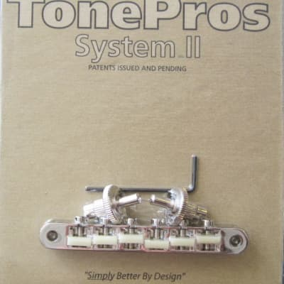 "TonePros TonePros NVR2G-N AVR2 with Standard Nashville Post Tuneomatic ""G Formula"" Saddles Nickel Ni"