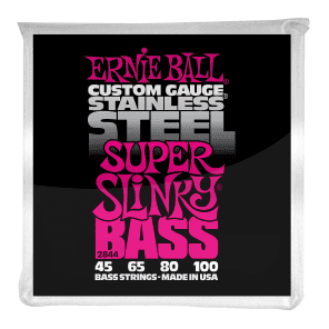 Ernie Ball 2844 Super Slinky Stainless Steel Electric Bass Strings (45 - 100)