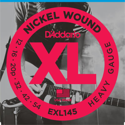 D'Addario EXL145 Nickel Wound Heavy Gauge Electric Guitar Strings 12-54