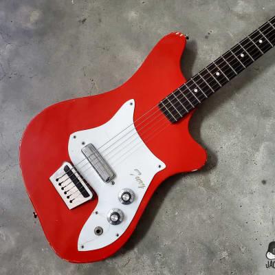 Alamo Fiesta Fury Texas-Made Electric Guitar (1964, Fiesta Red) for sale