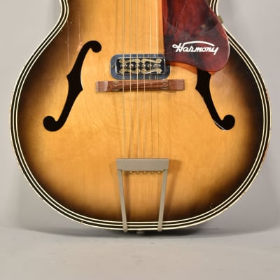 Circa 1950's Harmony H1213 Sunburst Vintage Archtop Guitar