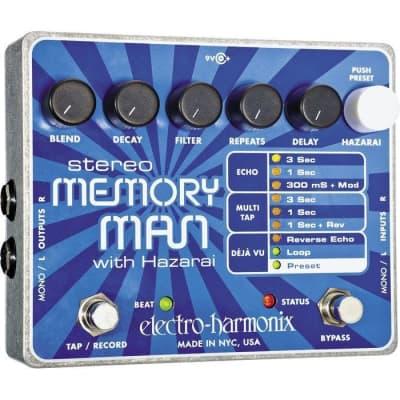 Electro-Harmonix Stereo Memory Man with Hazarai Delay Looper Pedal for sale