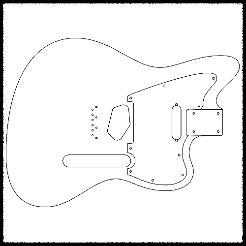 Telemaster Tele Heel Guitar Routing Templates