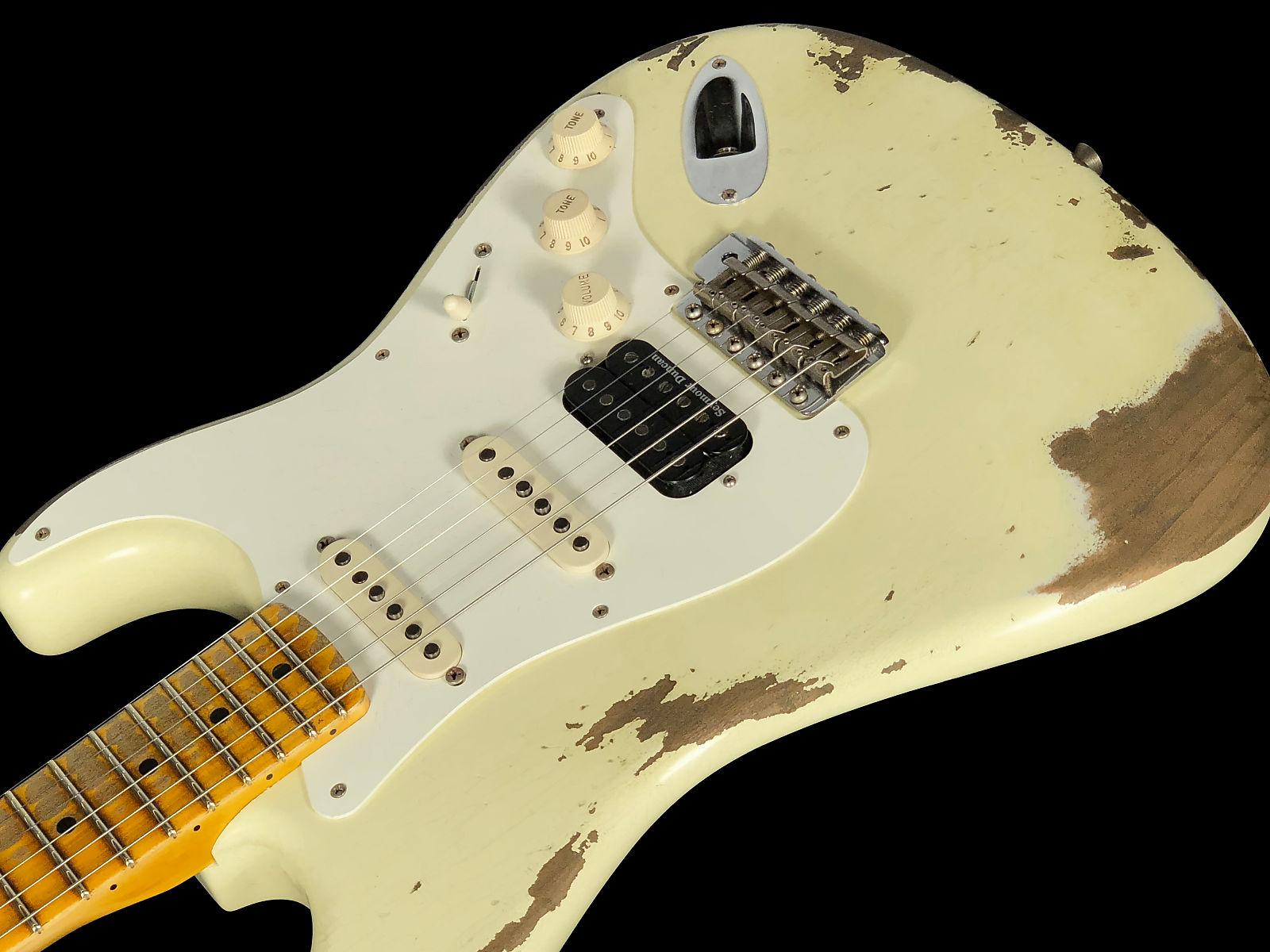 2018 Fender Stratocaster 1957 Custom Shop Heavy Relic 57 HSS Strat ~ Vintage  White