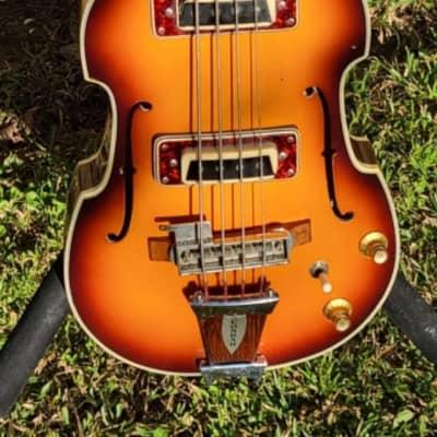 Conrad Scroll Top Violin Bass  1960's  Burst for sale