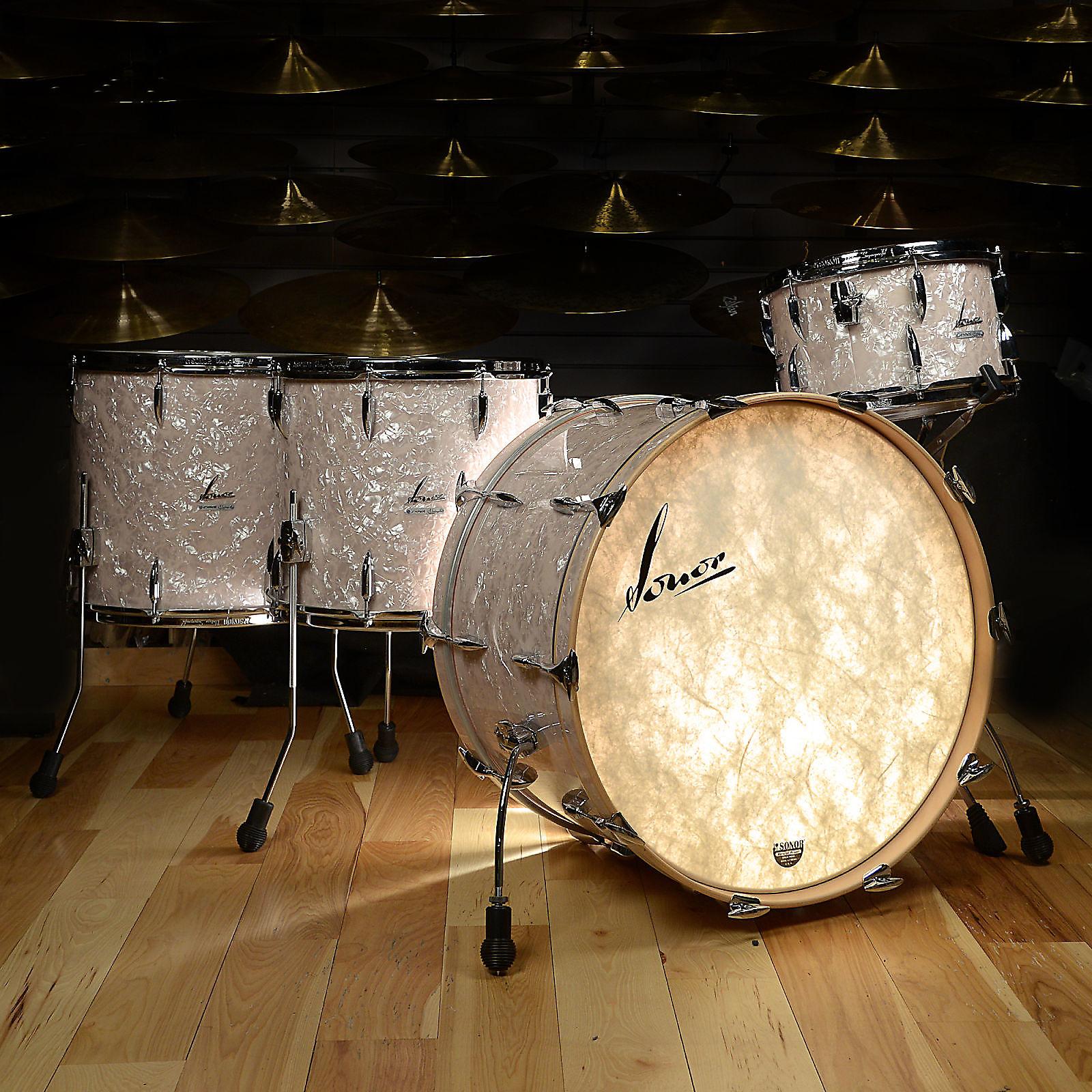 Sonor Vintage Series 13/16/18/24 4pc Drum Kit Vintage Pearl