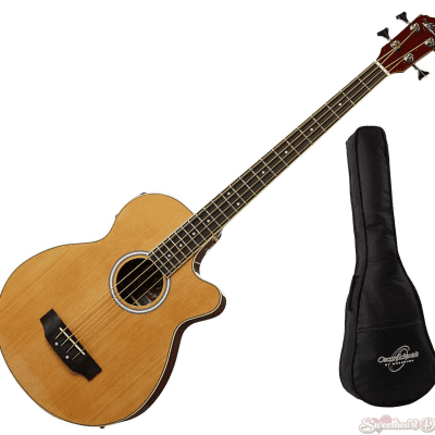 Oscar Schmidt OB100N Acoustic-Electric Bass with Gig Bag - Natural for sale